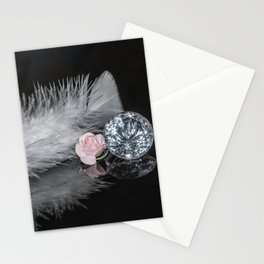 """""""Reflections"""" - Diamonds, Feathers & Flowers Stationery Cards"""