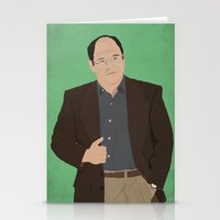seinfeld Stationery Cards featuring George Costanza // Seinfeld // Graphic Design by Dick Smith Designs