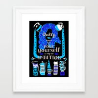 dolly parton Framed Art Prints featuring Dolly Parton Says by Patchwork Printshop