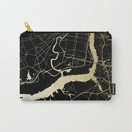 Philadelphia - Black and Gold Carry-All Pouch