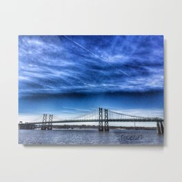 Interstate 74 Bridge on Mississippi River Metal Print