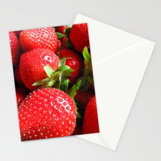 Abstract Strawberry Art Stationery Cards