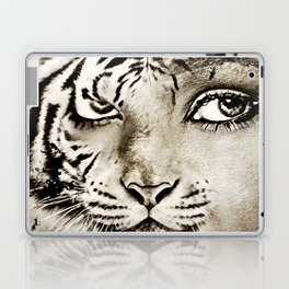 Tiger or woman Laptop & iPad Skin