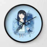 medusa Wall Clocks featuring Medusa by Kristina Sabaite
