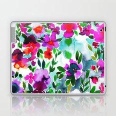 Evie Floral Magenta Laptop & iPad Skin