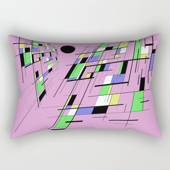 Bad perspective - Abstract, vector, geometric, 3D style artwork Rectangular Pillow