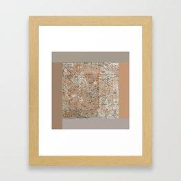 Milan, Italy / Milano, Italia antique map Framed Art Print