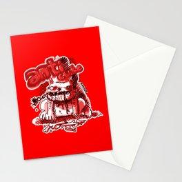 wild dog anticute cartoon style Stationery Cards
