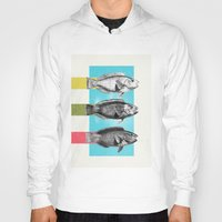 fish Hoodies featuring Fish by Danny Ivan