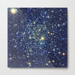 galaxY Stars : Midnight Blue & Gold Metal Print