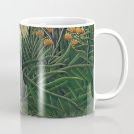 Fight between a Tiger and a Buffalo Coffee Mug