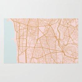 Beirut map Rug