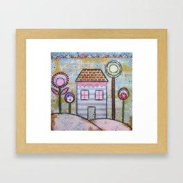 Home & Flower Spring Framed Art Print