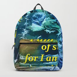 I am not afraid of storms Backpack