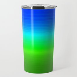 Blue Sky Green Grass Deconstructed (blue to green ombre gradient) Travel Mug