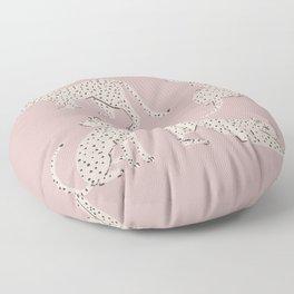 LEOPARD BLOCK PARTY - PINK Floor Pillow