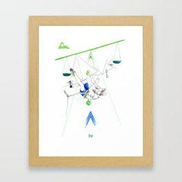 Level Libra Framed Art Print