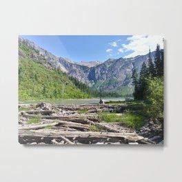 Avalanche Lake, Montana Mountain Scene Metal Print