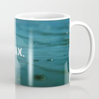 relax Mugs featuring RELAX by Jenny Althouse