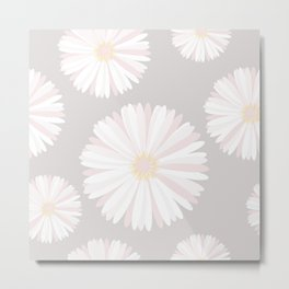 Background with delicate flowers Metal Print