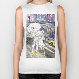 Kissing in New York City Biker Tank