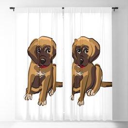 Dog cute puppy Blackout Curtain