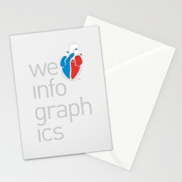 We Love Infographics Stationery Cards