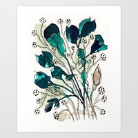 emerald Art Prints featuring Emerald by Tonya Doughty