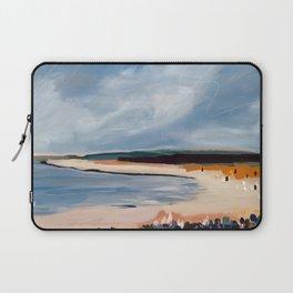 Beach in Navy and Ochre Laptop Sleeve