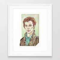 cumberbatch Framed Art Prints featuring Benedict Cumberbatch by Jess P.