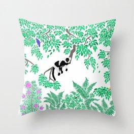 Rainforest Madagascar Throw Pillow