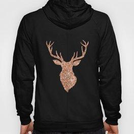 Sparkling reindeer blush gold Hoody