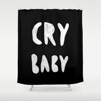 baby Shower Curtains featuring baby by agata krolak