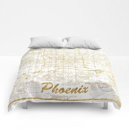 Phoenix Map Gold Comforters