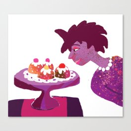 Lady with Pretty Tarts Canvas Print