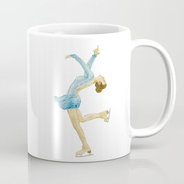 Girl in blue dress. Figure skater. Coffee Mug