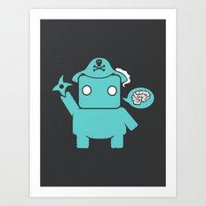 Ninja Pirate Robot Zombie Art Print