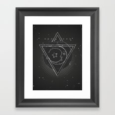 Mysterious moon Framed Art Print