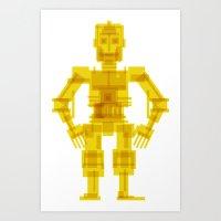 c3po Art Prints featuring C3PO by Vulgosclub