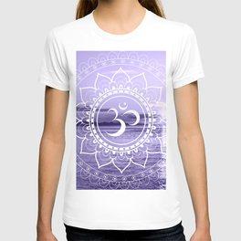 Water Om Mandala Lavender T-shirt