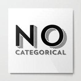 No. Categorical Metal Print