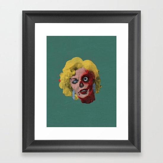 Gentlemen Prefer Zombz Framed Art Print