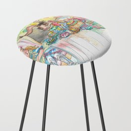 Alice's Mad Tea Party Counter Stool