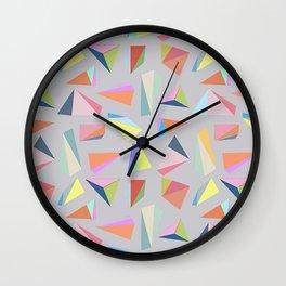 Colour Diamond Grey Wall Clock