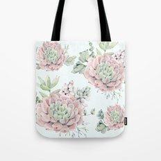 Pink Echeveria #society6 #buyart Tote Bag