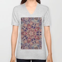 Paint chip kaleidoscope Unisex V-Neck