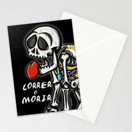 correr o morir Stationery Cards