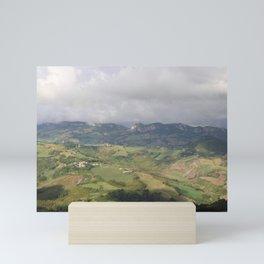 View from San Marino - landscape photography Mini Art Print
