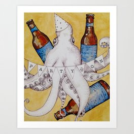 Octopus Party Art Print
