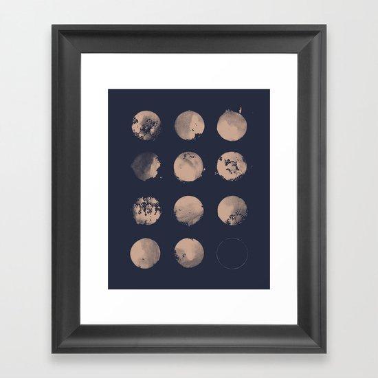 Douze Lunes Framed Art Print